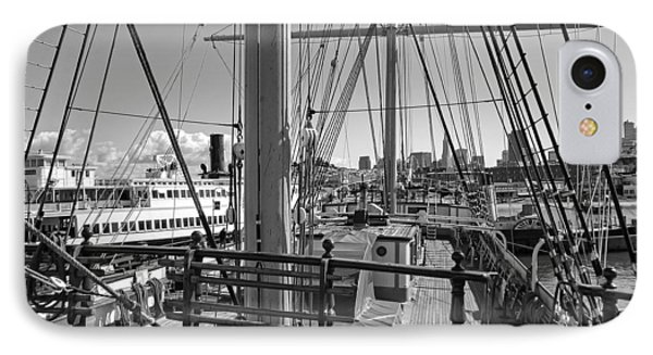 Deck Of Balclutha 3 Masted Schooner - San Francisco Phone Case by Daniel Hagerman