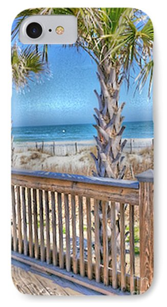 Deck On The Beach IPhone Case by Gayle Price Thomas
