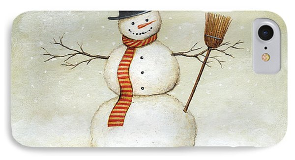 Deck The Halls - Snowman IPhone Case by David Carter Brown