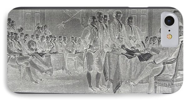 Declaration Of Independence In Negative IPhone Case by Rob Hans
