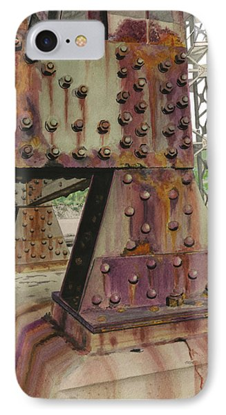 IPhone Case featuring the painting Declining Infrastructure by Ferrel Cordle