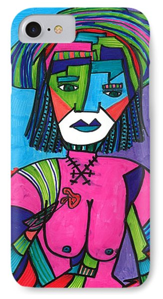 IPhone Case featuring the drawing Deco Diva by Don Koester