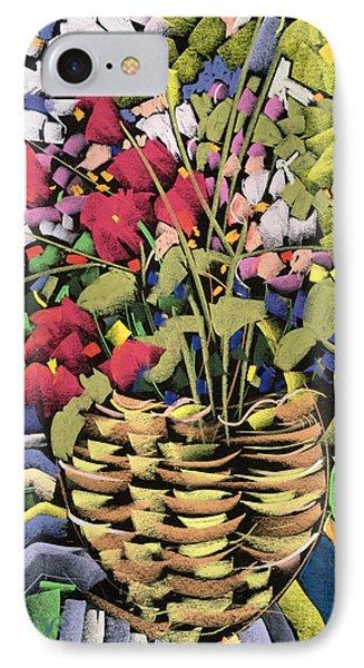 Deco Flowers IPhone Case by Frances Treanor