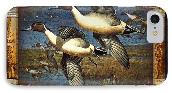 Deco Pintail Ducks IPhone Case