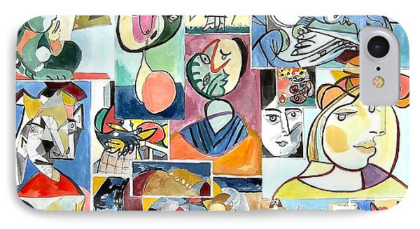 Deconstructing Picasso - Women Sad And Betrayed IPhone Case