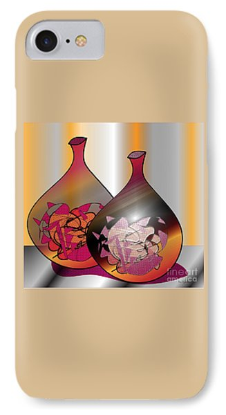 IPhone Case featuring the digital art Decor by Iris Gelbart