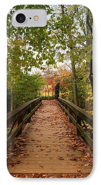 Decorate With Leaves - Holmdel Park Phone Case by Angie Tirado