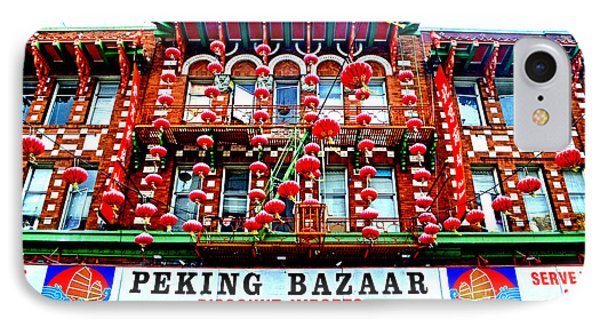 Decorated Building In Chinatown In San Francisco Phone Case by Jim Fitzpatrick
