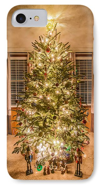 IPhone Case featuring the photograph Decorated Christmas Tree by Alex Grichenko