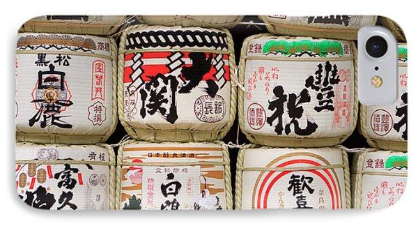 Decoration Barrels Of Sake IPhone Case by Paul Dymond