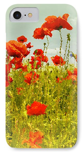 Decorative-art Field Of Red Poppies Phone Case by Melanie Viola