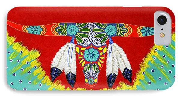 Longhorn IPhone Case by Debbie Chamberlin