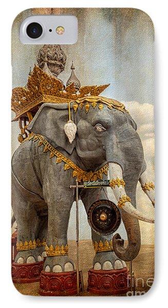 Decorative Elephant IPhone Case by Adrian Evans