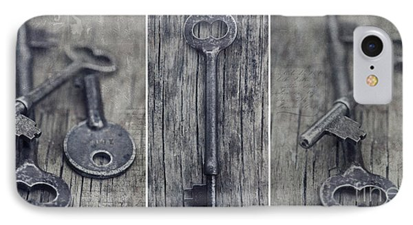 decorative vintage keys II IPhone Case by Priska Wettstein