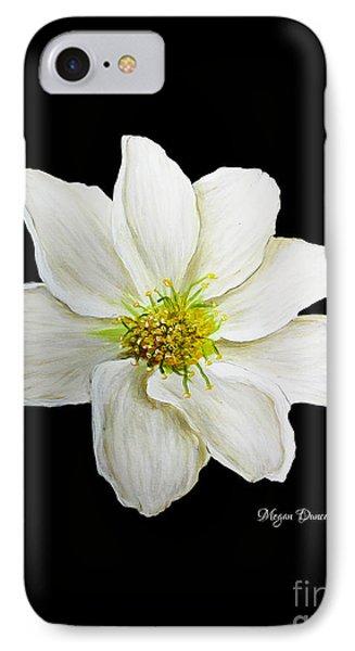 Decorative White Floral Flower Art Original Chic Painting Madart Studios Phone Case by Megan Duncanson