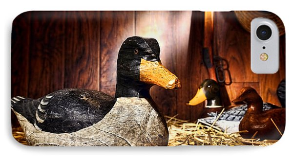 Decoy In Old Hunting Barn Phone Case by Olivier Le Queinec
