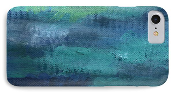 Tranquility- Abstract Painting IPhone Case by Linda Woods