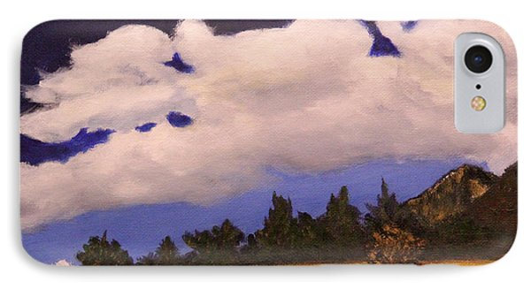 IPhone Case featuring the painting Deep Blue Sky by Janet Greer Sammons