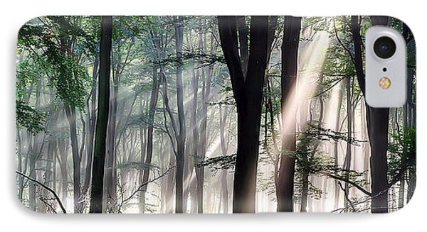 Deep Forest Morning Light IPhone Case
