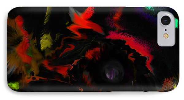 IPhone Case featuring the digital art Deep Impact by Martina  Rathgens