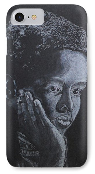 Deep In Thought IPhone Case by Zilpa Van der Gragt