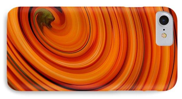 Deep Orange Abstract IPhone Case