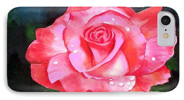 Deep Pink Rose IPhone Case