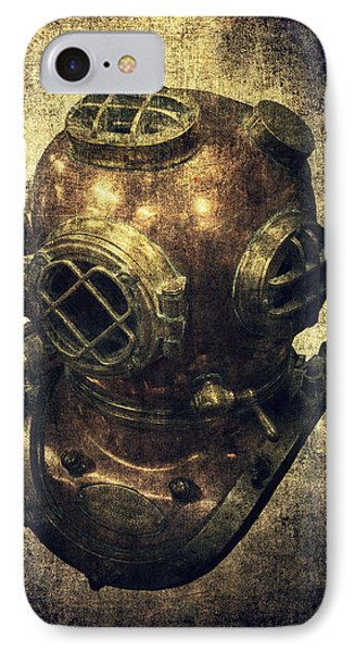 Deep Sea Diving Helmet IPhone Case by Daniel Hagerman