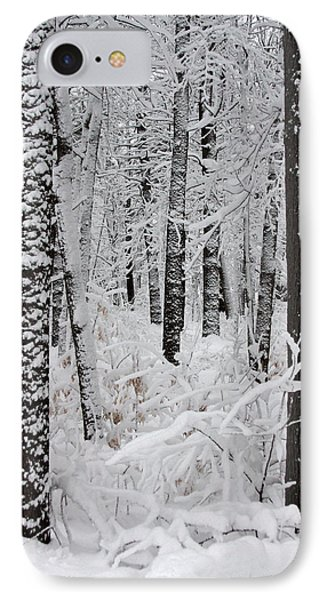 Deep Snow In The Forest Phone Case by Lynn-Marie Gildersleeve