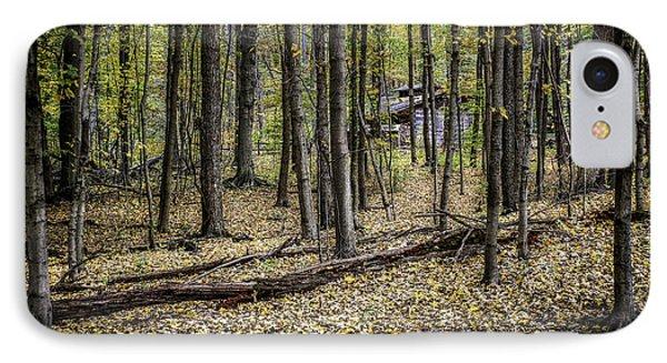 Deep Woods Cabin IPhone Case by Tom Mc Nemar