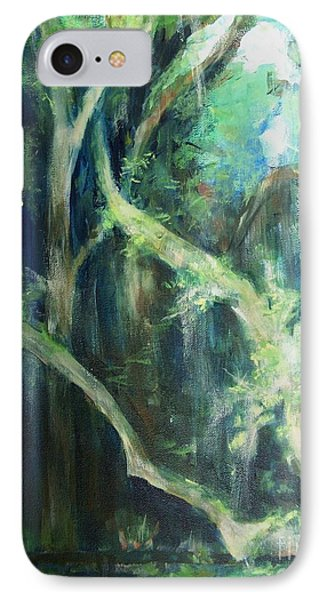 IPhone Case featuring the painting Deep Woods by Mary Lynne Powers