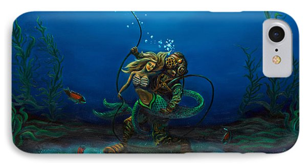 Deepsea Love IPhone Case by Andres  Soto