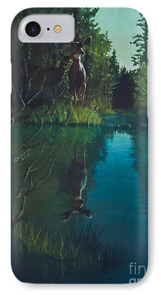 Deer Crossing IPhone Case by Rob Corsetti