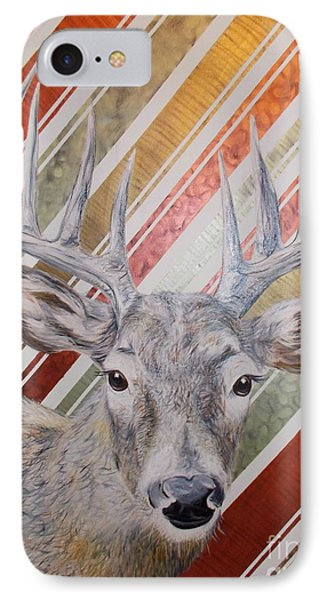 IPhone Case featuring the painting Deer Deco by PainterArtist FINs husband