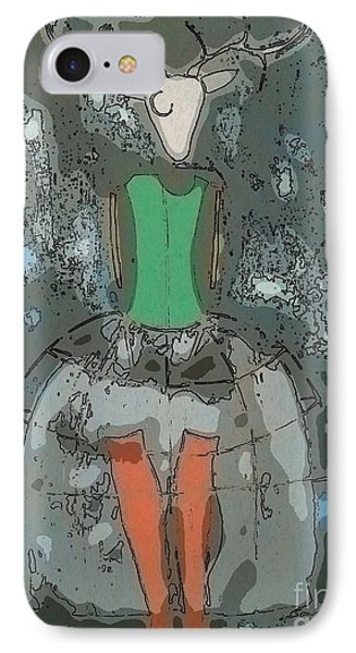 Deer Girl Phone Case by Amy Sorrell