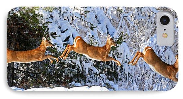 Deer Jump IPhone Case