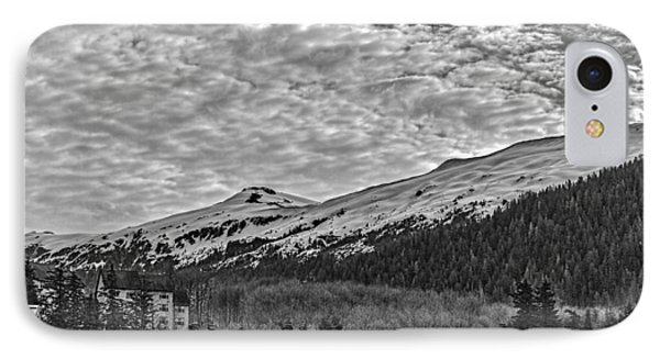 Deer Mountain Bw IPhone Case by Timothy Latta