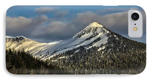 Deer Mountain With Last Winters Snow. IPhone Case by Timothy Latta