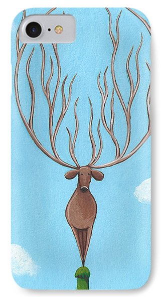 Deer Nursery Art IPhone Case by Christy Beckwith