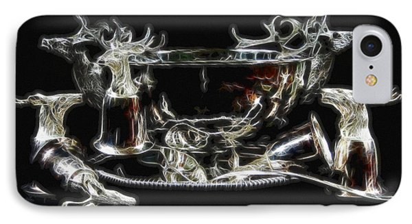 Deer Punch Bowl Set Phone Case by EricaMaxine  Price