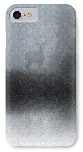 IPhone Case featuring the photograph Deer Reflecting by Diane Alexander