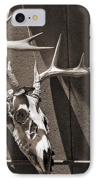 Deer Skull In Sepia Phone Case by Brooke T Ryan