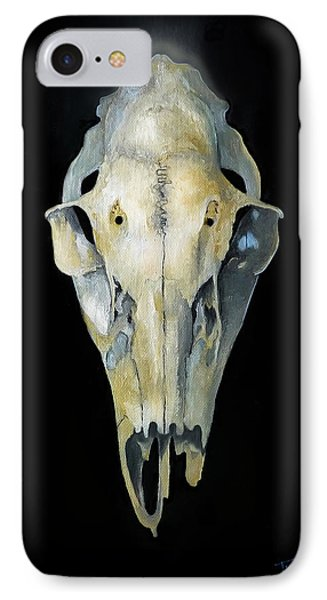 Deer Skull With Aura IPhone Case by Catherine Twomey
