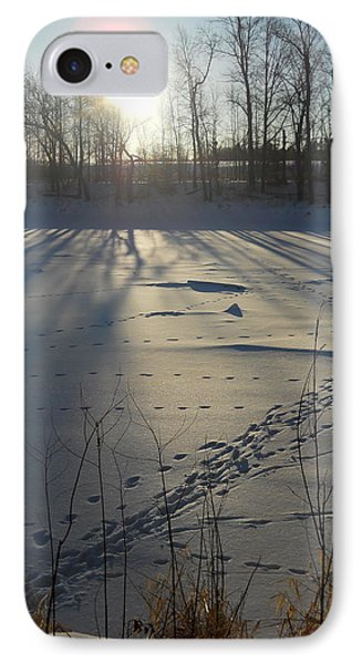 Deer Tracks On The River IPhone Case