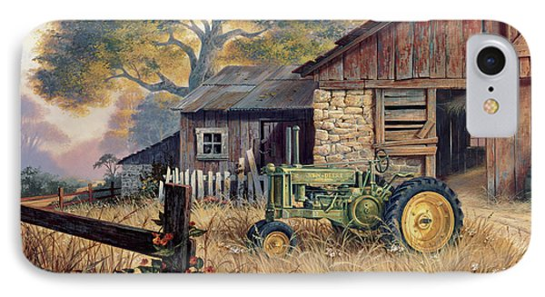 Landscape iPhone 7 Case - Deere Country by Michael Humphries