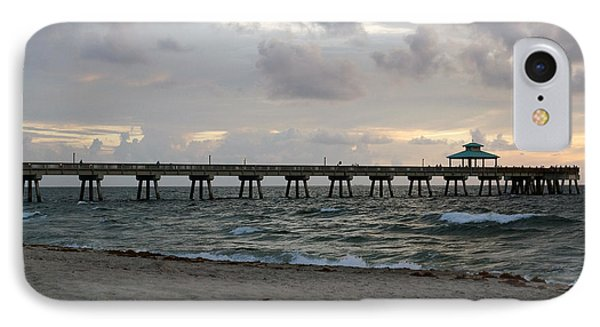 IPhone Case featuring the photograph Deerfield Beach International Fishing Pier Sunrise by Rafael Salazar