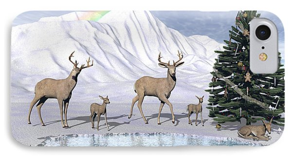 Deers IPhone Case by Michele Wilson