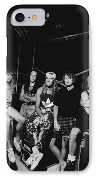Def Leppard - Adrenalize Tour B&w 1992 IPhone Case by Epic Rights