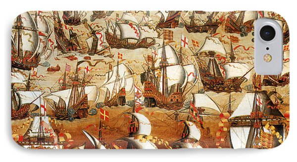 Defeat Of The Spanish Armada 1588 Phone Case by Photo Researchers