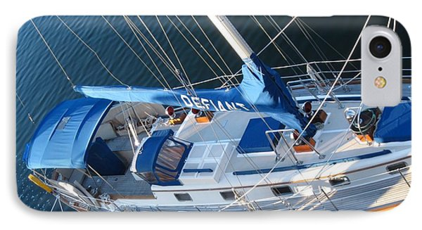 Defiant Sailboat Blues IPhone Case